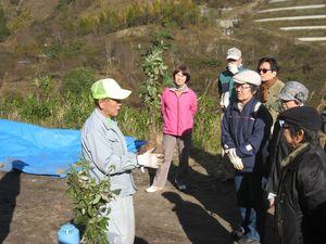 足尾に緑を育てる会」では15年間に10万本の植樹をし、東京都、神奈川、埼玉県の小中学校の修学旅行などでの体験学習としての植樹も行っているとのこと。